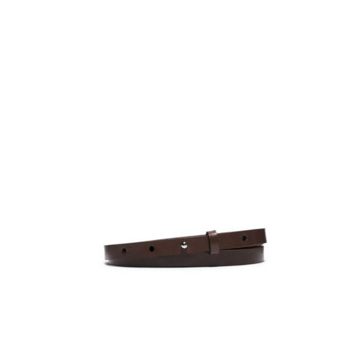 MICHAEL KORS Skinny Leather Belt NUTMEG