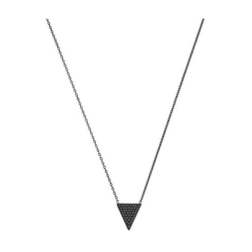MICHAEL KORS Pavé Triangle Black-Pendant Necklace