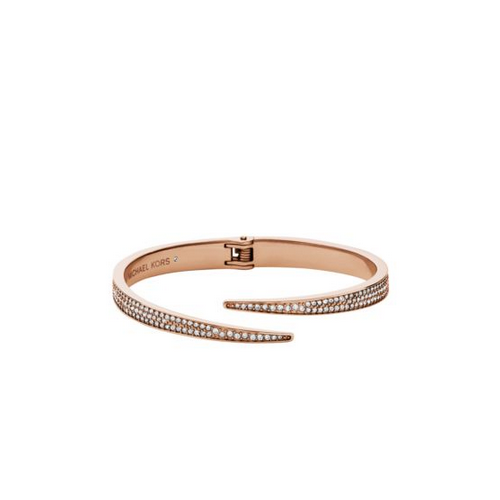 MICHAEL KORS Pavé Rose Gold-Tone Bangle