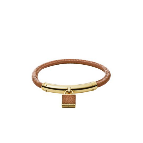 MICHAEL KORS Logo Padlock Leather Bracelet