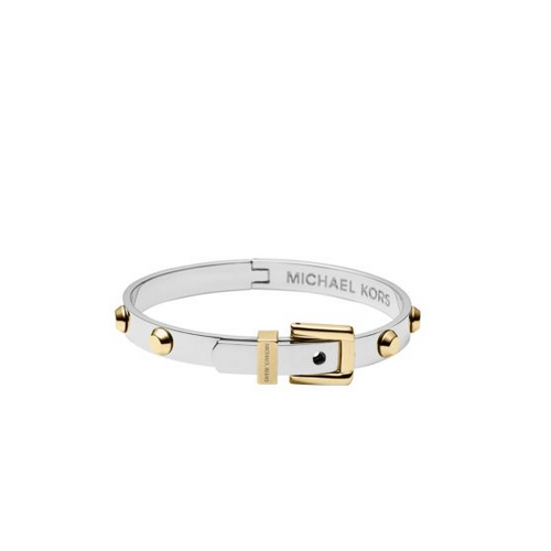 MICHAEL KORS Studded Two-Tone Buckle Bangle