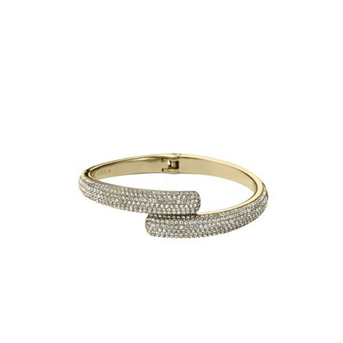 MICHAEL KORS Pavé Gold-Tone Hinge Bangle