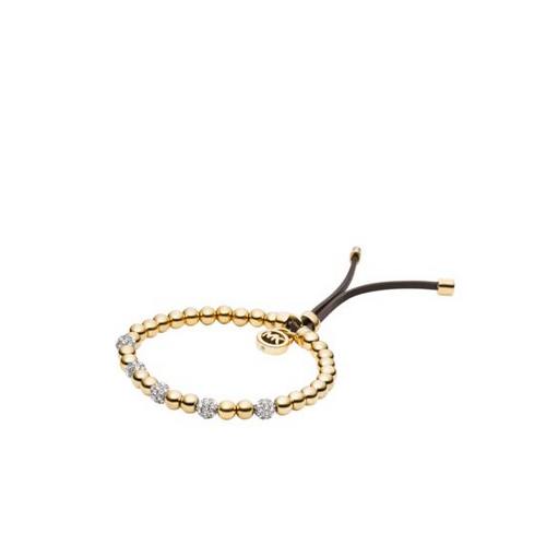 MICHAEL KORS Gold-Tone Bead Stretch Bracelet
