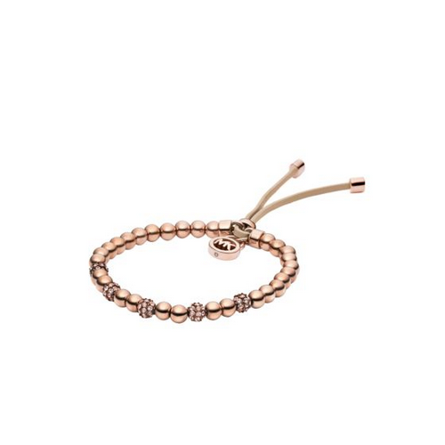 MICHAEL KORS Rose Gold-Tone Bead Stretch Bracelet