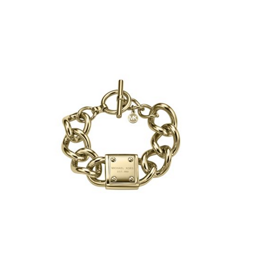 MICHAEL KORS Gold-Tone Plaque Bracelet