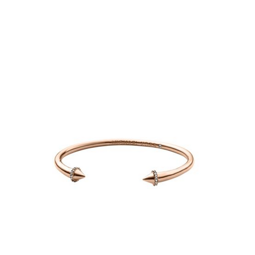 MICHAEL KORS Arrow Pavé Rose Gold-Tone Cuff