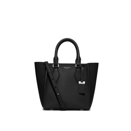 MICHAEL MICHAEL KORS Gracie Small Leather Tote BLACK