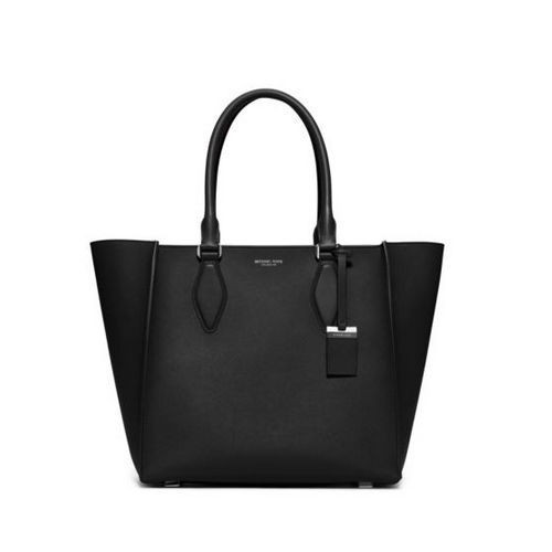 MICHAEL MICHAEL KORS Gracie Large Leather Tote BLACK
