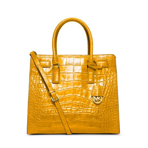 MICHAEL MICHAEL KORS Dillon Large Embossed-Leather Tote SUN