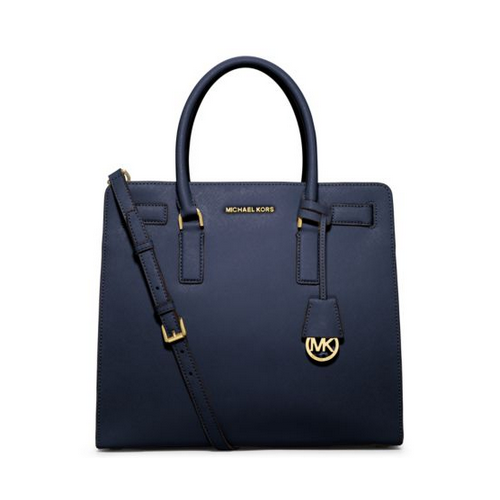 MICHAEL MICHAEL KORS Dillon Large Saffiano Leather Tote NAVY