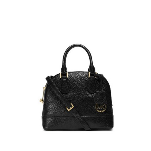 MICHAEL MICHAEL KORS Smythe Small Pebbled-Leather Satchel BLACK