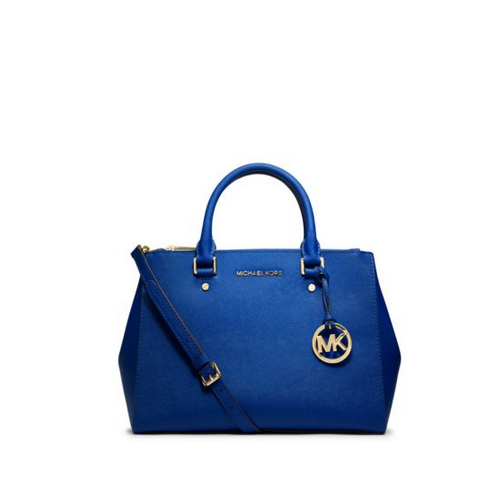 MICHAEL MICHAEL KORS Sutton Medium Saffiano Leather Satchel ELECTRIC BLUE