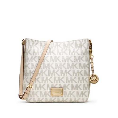 MICHAEL MICHAEL KORS Jet Set Travel Large Logo Messenger VANILLA