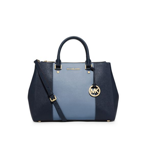 MICHAEL MICHAEL KORS Sutton Large Color-Block Leather Satchel
