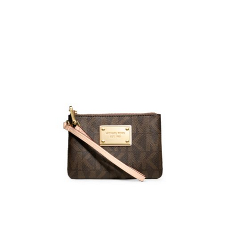 MICHAEL MICHAEL KORS Logo Small Wristlet BROWN