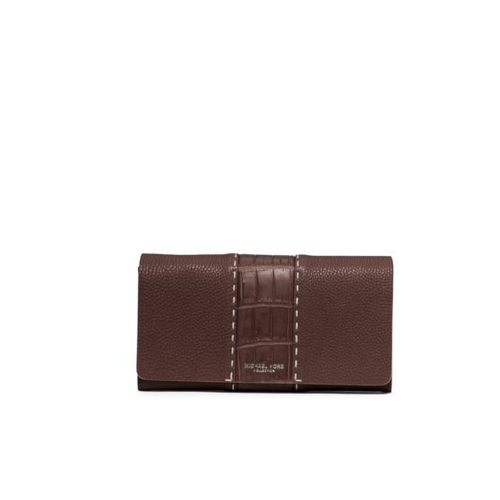 MICHAEL MICHAEL KORS Rogers Grained-Leather Continental Wallet NUTMEG