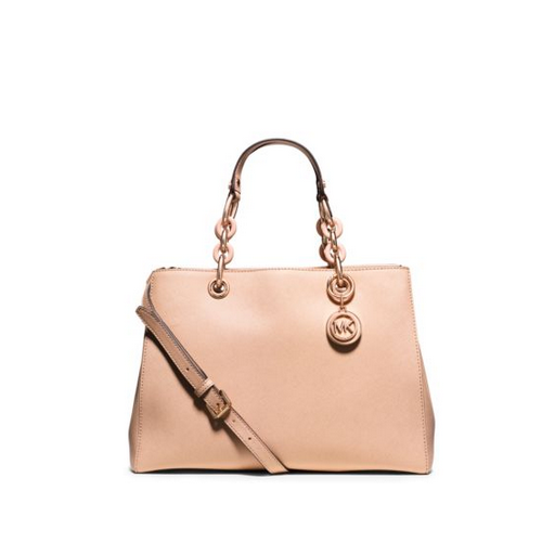 MICHAEL MICHAEL KORS Cynthia Medium Saffiano Leather Satchel