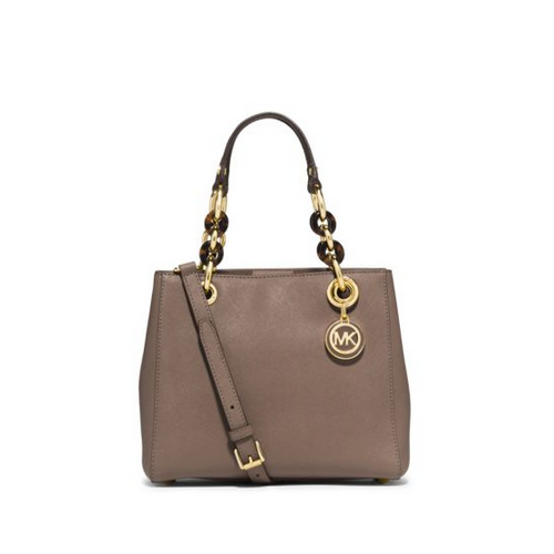 MICHAEL MICHAEL KORS Cynthia Small Leather Satchel DARK DUNE