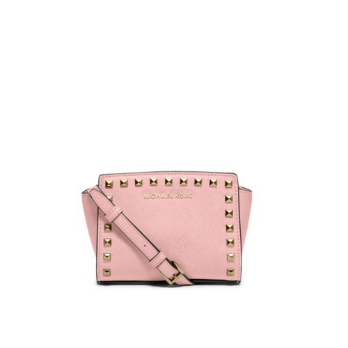 MICHAEL MICHAEL KORS Selma Mini Studded Leather Crossbody BLOSSOM