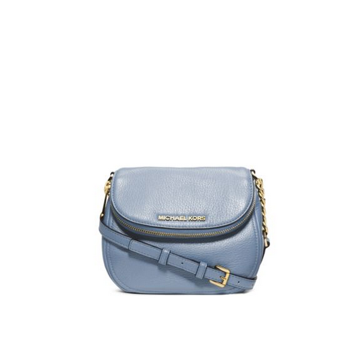 MICHAEL MICHAEL KORS Bedford Leather Crossbody PALE BLUE