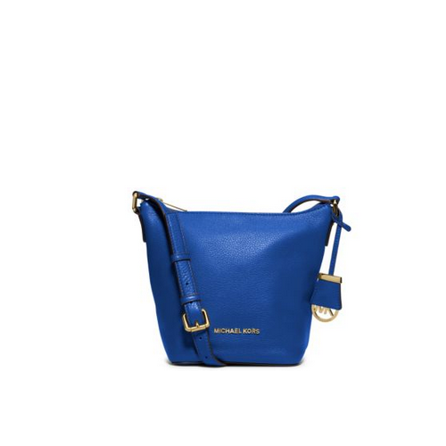 MICHAEL MICHAEL KORS Bedford Small Leather Messenger ELECTRIC BLUE