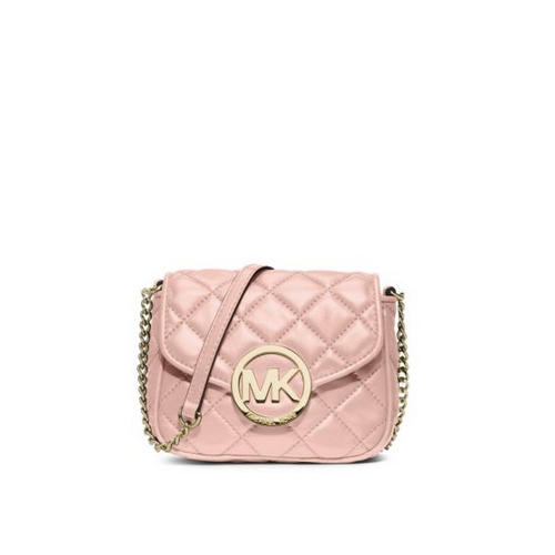 MICHAEL MICHAEL KORS Fulton Small Quilted-Leather Crossbody BLOSSOM
