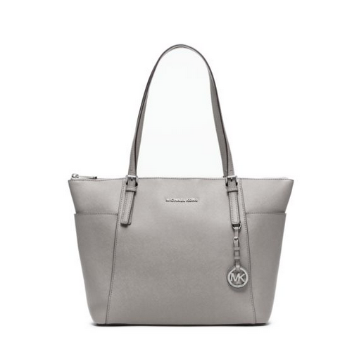 MICHAEL MICHAEL KORS Jet Set Large Top-Zip Leather Tote