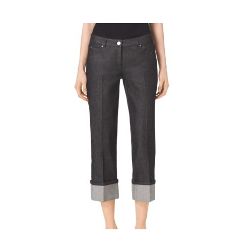 MICHAEL KORS COLLECTION Black Cuffed Jeans BLACK