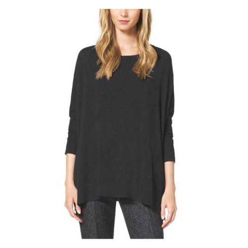 MICHAEL KORS COLLECTION Cashmere Crewneck Sweater BLACK