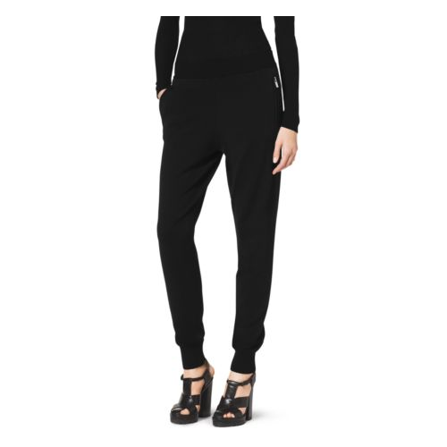 MICHAEL KORS COLLECTION Merino Wool Tapered Pants BLACK