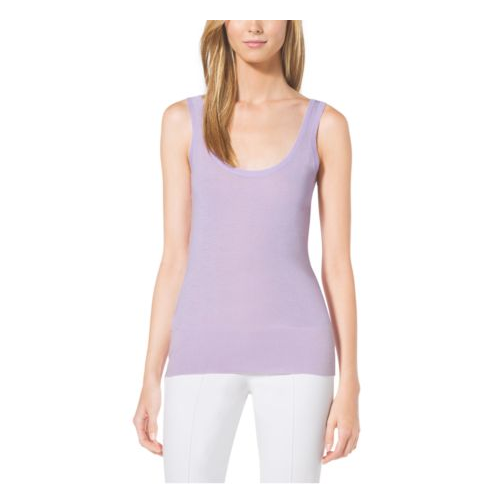MICHAEL KORS COLLECTION Cashmere Tank Top THISTLE
