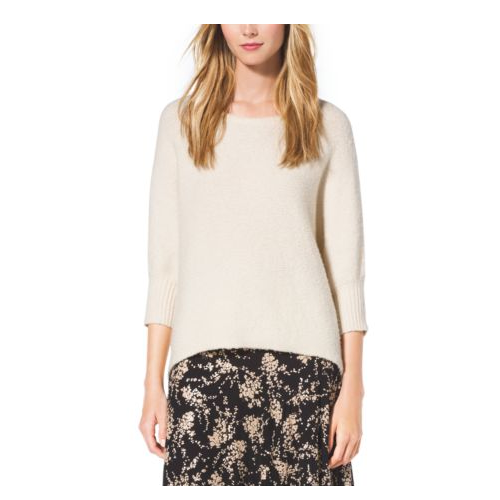 MICHAEL KORS COLLECTION Dolman-Sleeve Silk And Wool Sweater VANILLA