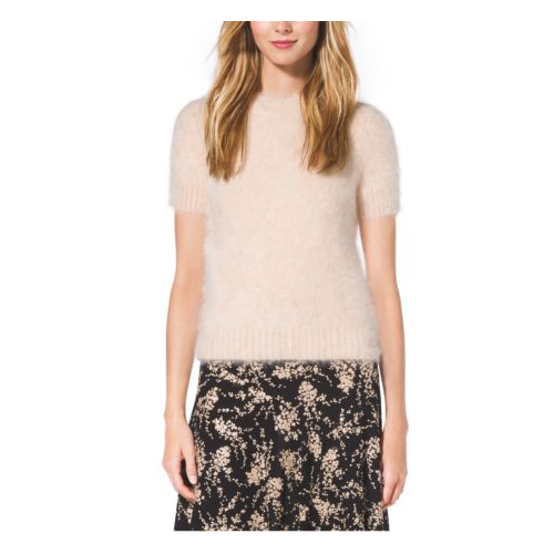 MICHAEL KORS COLLECTION Angora T-Shirt VANILLA