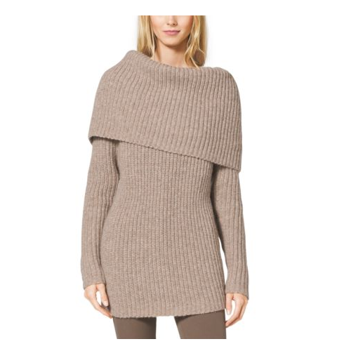 MICHAEL KORS COLLECTION Alpaca And Merino Wool Cowl-Neck Sweater BISON
