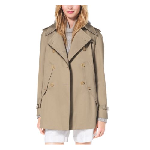 MICHAEL KORS COLLECTION Cotton-Gabardine Trench Cape SAND
