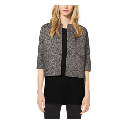 MICHAEL KORS COLLECTION Reversible Mohair And Herringbone Wool Jacket CHARCOAL