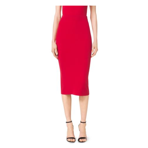 MICHAEL KORS COLLECTION Stretch-Viscose Skirt CRIMSON