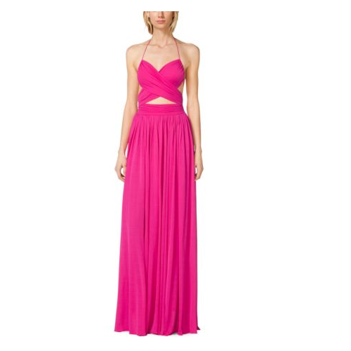 MICHAEL KORS COLLECTION Matte-Jersey Cutout Maillot Gown GERANIUM