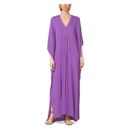 MICHAEL KORS COLLECTION Crepe-Jersey Caftan WISTERIA