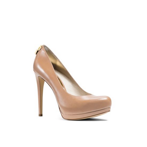 MICHAEL MICHAEL KORS Hamilton Leather Pump TOFFEE