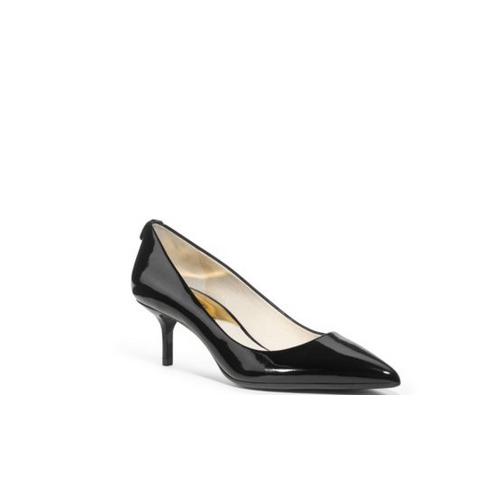 MICHAEL MICHAEL KORS Flex Patent-Leather Pump BLACK