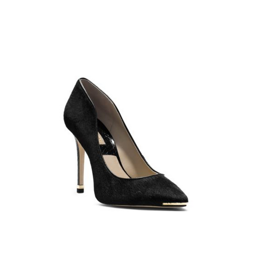 MICHAEL MICHAEL KORS Avra Haircalf And Snakeskin Pump BLACK