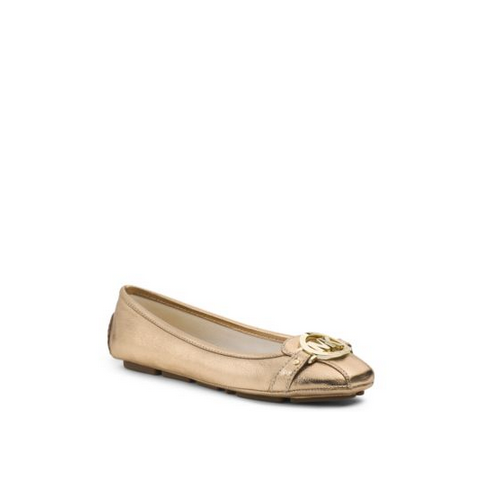 MICHAEL MICHAEL KORS Fulton Metallic Leather Moccasin PALE GOLD