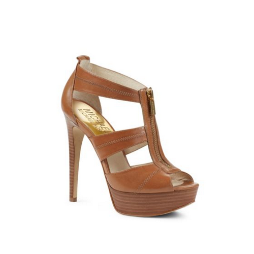 MICHAEL MICHAEL KORS Berkley Leather Platform Sandal LUGGAGE