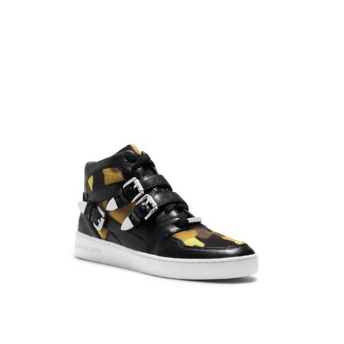 MICHAEL MICHAEL KORS Robin Camouflage High-Top Sneaker ACID YELLOW