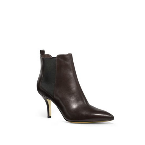 MICHAEL MICHAEL KORS Asbury Leather Ankle Boots CHOCOLATE