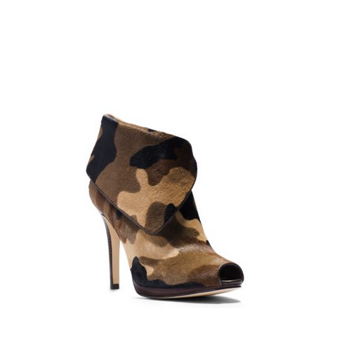 MICHAEL MICHAEL KORS Kendra Camouflage Hair Calf Ankle Boot DUFFLE