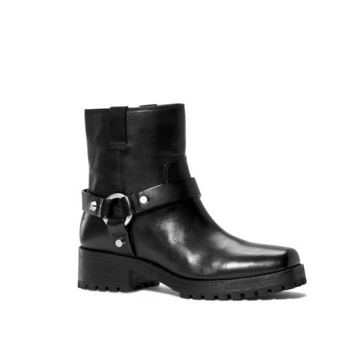 MICHAEL MICHAEL KORS Macey Leather Ankle Boot BLACK