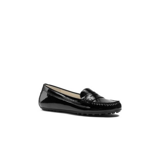 MICHAEL MICHAEL KORS Daisy Patent-Leather Loafer BLACK