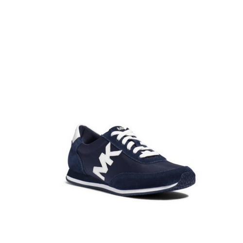 MICHAEL MICHAEL KORS Stanton Suede And Leather Sneaker NAVY